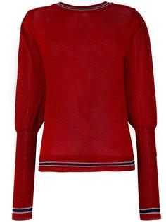 прозрачный свитер с отделкой Miahatami