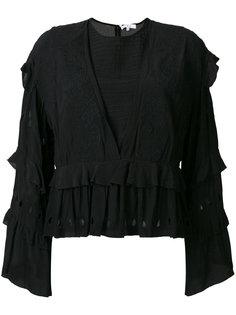 блузка с вышивкой и оборками Iro