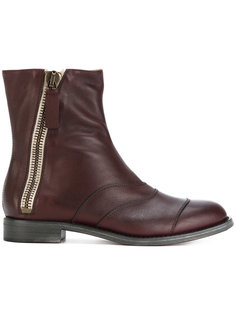 ботинки со складками на молнии Chloé