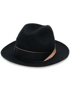 шляпа с перевернутой лентой Borsalino