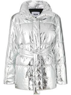 объемная куртка-пуховик MSGM