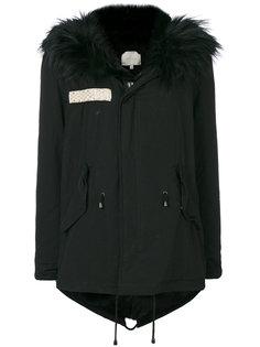 пальто на молнии с контрастной отделкой  Amen Amen.