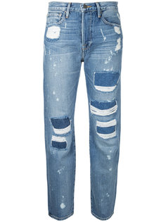 укороченные джинсы-бойфренды Frame Denim