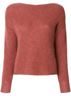 пуловер с вырезом ковш  Forte Forte