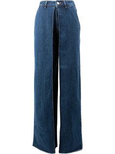широкие джинсы с отворотами  Aalto