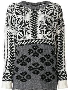 свитер вязки интарсия Twin-Set