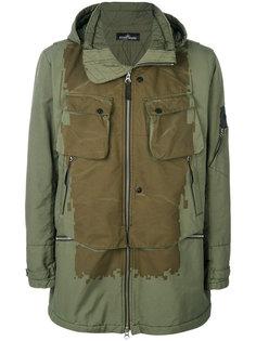 пальто с капюшоном в стиле милитари Stone Island Shadow Project