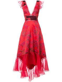 jacquard asymmetric gown Marchesa Notte