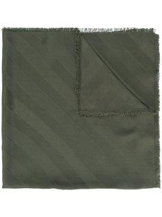 шарф с меховыми помпонами Fendi