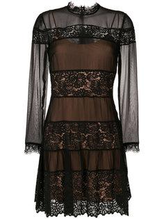 платье с панельным дизайном и кружевом Twin-Set