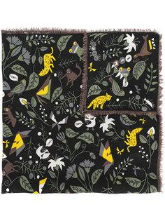 шарф с цветочной вышивкой Fendi