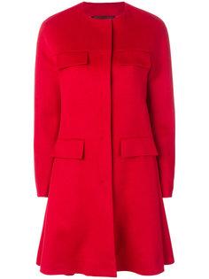расклешенное пальто без воротника Giambattista Valli