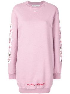 футболка с принтом цветов вишни Off-White
