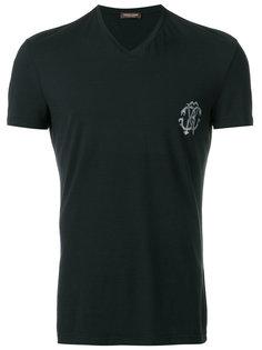 футболка с V-образным вырезом Roberto Cavalli
