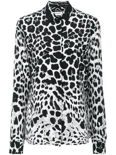 блузка с животным принтом  Saint Laurent