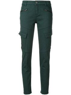 брюки скинни с карманами карго Twin-Set