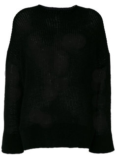 пуловер с высокой горловиной в рубчик 8pm