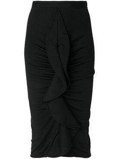 юбка с присборенными оборками  Givenchy