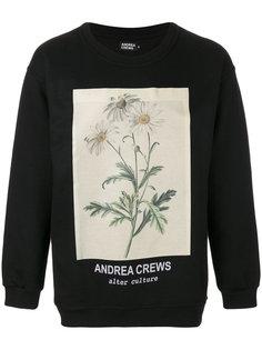floral print sweatshirt Andrea Crews