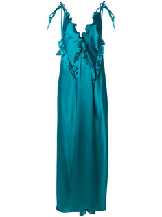 платье с отделкой из рюшей Attico