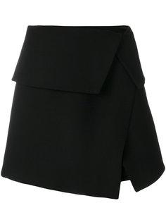 юбка асимметричного кроя с отворотом Balmain