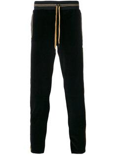 бархатные брюки с контрастным поясом Roberto Cavalli
