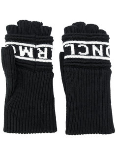 перчатки-митенки с логотипом Moncler