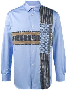 рубашка с контрастными заплатками Comme Des Garçons Homme Plus