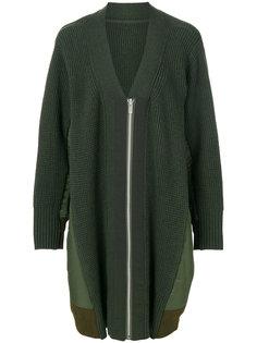 oversized knitted jacket Sacai