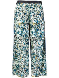 укороченные брюки с цветочным принтом Diesel