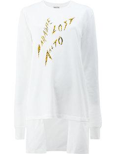 асимметричная рубашка с длинными рукавами и принтом  Aalto