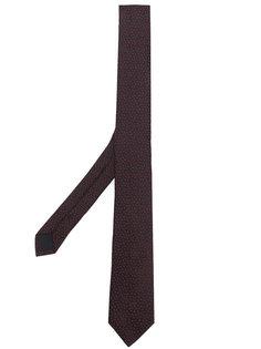галстук с вышивкой Saint Laurent