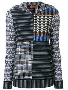свитер с узором и капюшоном Missoni