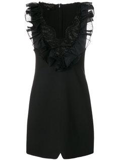 платье с оборками и кружевом Giambattista Valli
