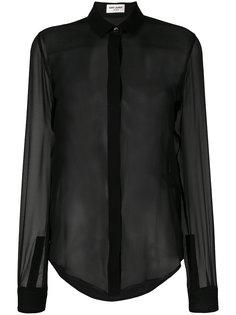 полупрозрачная блузка  Saint Laurent