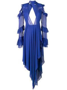 платье с отделкой из рюшей Off-White