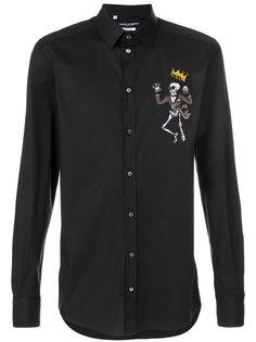 рубашка с аппликацией Royal Skeleton Dolce & Gabbana