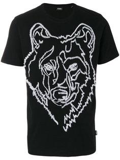 футболка с принтом медведя Diesel