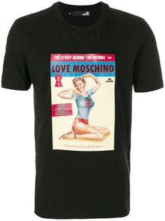 футболка с принтом в виде обложки журнала Love Moschino