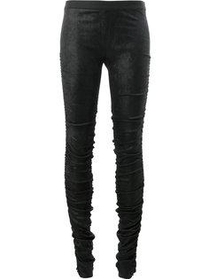 облегающие брюки со сборками Ilaria Nistri
