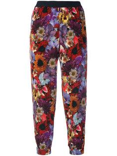 брюки с цветочным принтом Diesel