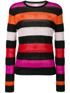 Heart embroidered striped sweater Chinti And Parker
