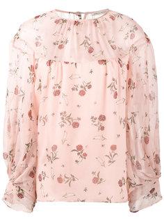 блузка с принтом роз Lauren Emilia Wickstead