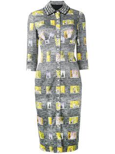 платье с рисунком в виде окон Olympia Le-Tan
