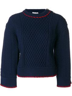 свитер с контрастной вышивкой  Sonia Rykiel