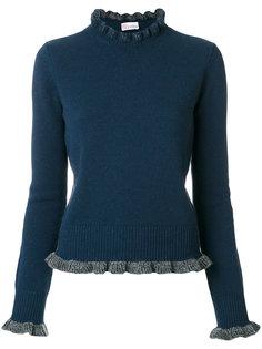 пуловер с оборками Red Valentino