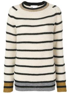 свитер в полоску с круглым вырезом  8pm