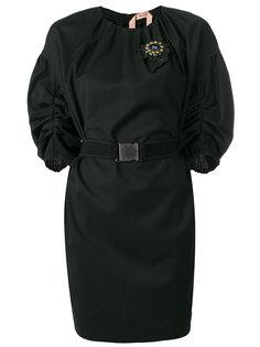 пальто с поясом и сборками Nº21