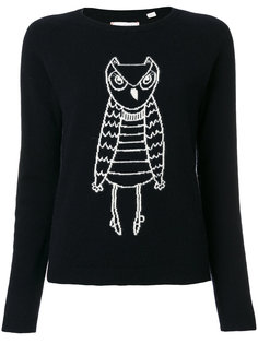 cashmere owl outline sweater Chinti And Parker