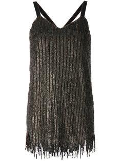 платье мини с отделкой пайетками  Aviù